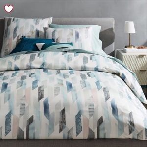 west elm Sateen Crystal Geo Duvet Cover